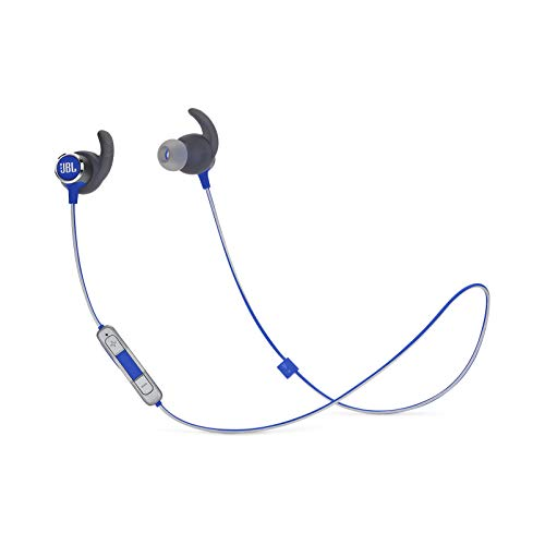 JBL Reflect Mini 2.0, in-Ear Wireless Sport Headphone with 3-Button mic/Remote - Blue