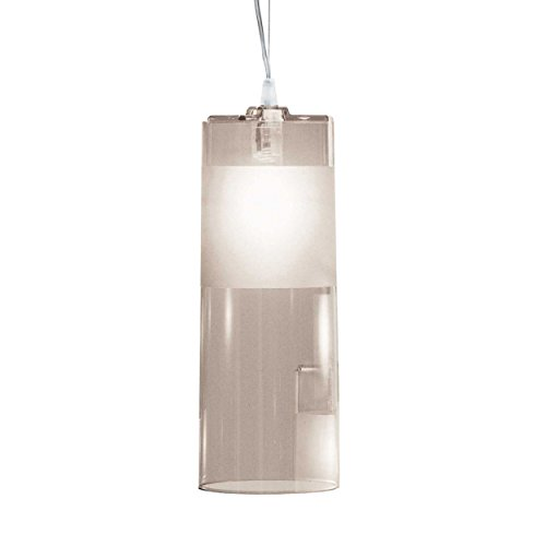 Kartell–Easy lampada a sospensione, Grigio Trasparente