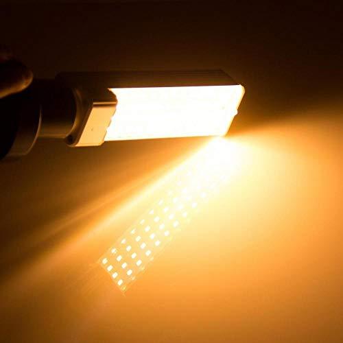 Lxyfc La luz es Dia Bulbo 5W 7W 9W 11W 13W G24 LED E27 Bombilla de iluminación Bombillas luz de Cambiar la lámpara Fluorescente AC85-265V G24 LED Horizontal Plug Luz Relajarse