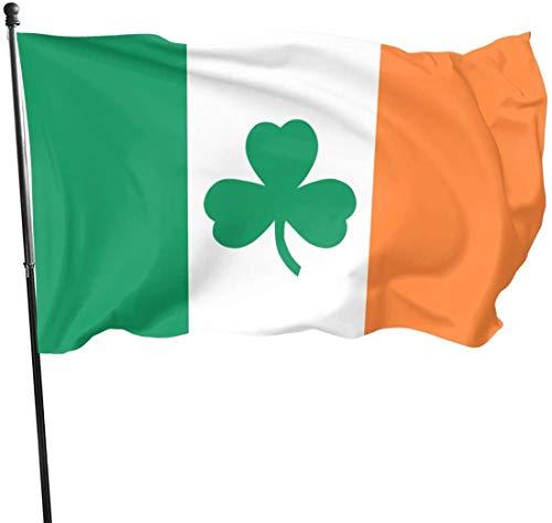 Viplili Banderas Irish Flag Shamrock Home Garden Yard Flags 3 X 5 Feet Pennants Indoor Outdoor Fall Flags Wall Banners Decoration