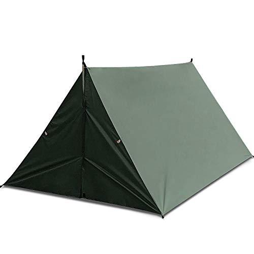 GDD - Toldo para tienda de campaña, para acampada, 9.8ft x 9.8ft Hamaca Camping Sun Shelter, toldo para exteriores, senderismo, picnic, pesca