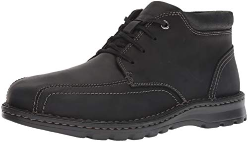 Clarks Men's Vanek Mid Boot, black leather, 7 M US