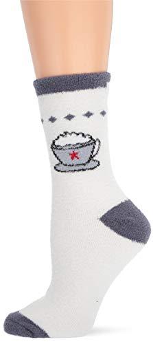 Karen Neuburger Women's Super Soft Cozy Fluffy Warm Lounge Holiday Novelty Sock, Charcoal, One Size Fits All