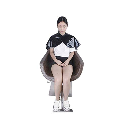 JS Klettverschluss PVC Salon Haarschürze Spiegeloberfläche Glattes Latzkleid Cappa Friseurkragen Styling Wraps Schal