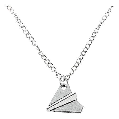 Viudecce Fashion One Direction Harry Styles Papierflieger Halskette (Silber)
