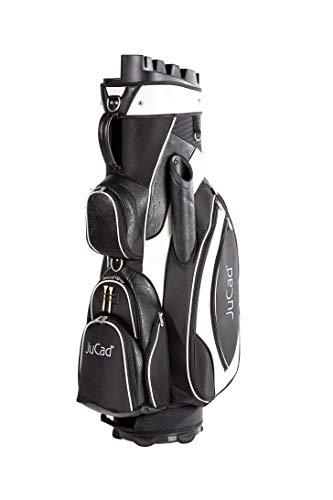 JuCad Bag Manager I Golfbag I Trolly I Golftasche I Schirmfach I Tragegriff I Farbe Schwarz-weiß