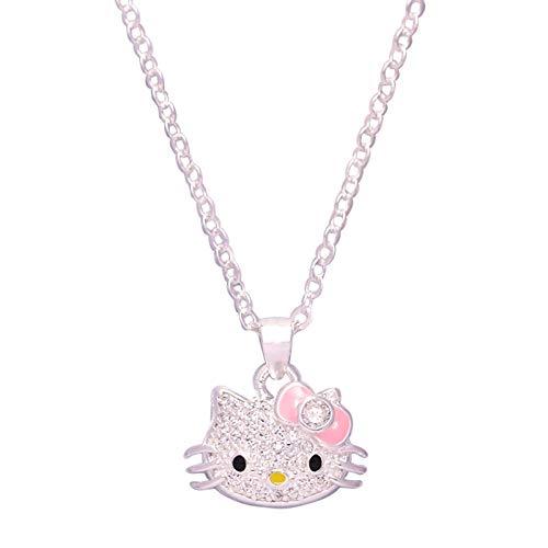 Modedame Hello Kitty Prinzessin Halskette einfachen Retro-Charme