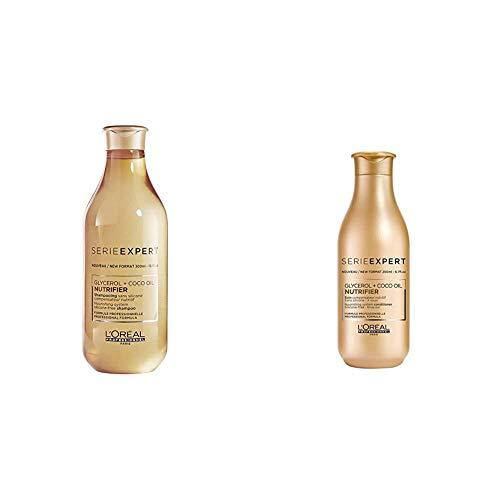 L'Oréal Professionnel, Champú Nutrifier 300 ml + Acondicionador Nutrifier 200 ml, para Cabello Seco y Deshidratado