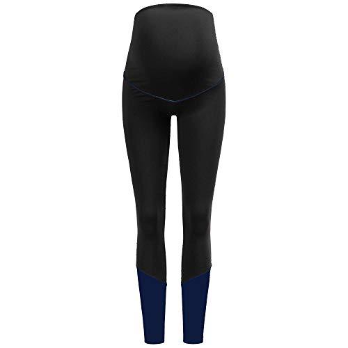 Herzmutter Leggings Deportivos para el Embarazo – Pantalones de Yoga para Embarazadas – Activo-Leggins Premamá para Deporte – Pantalón Deportivo para Maternidad - 8300 (Negro, L)