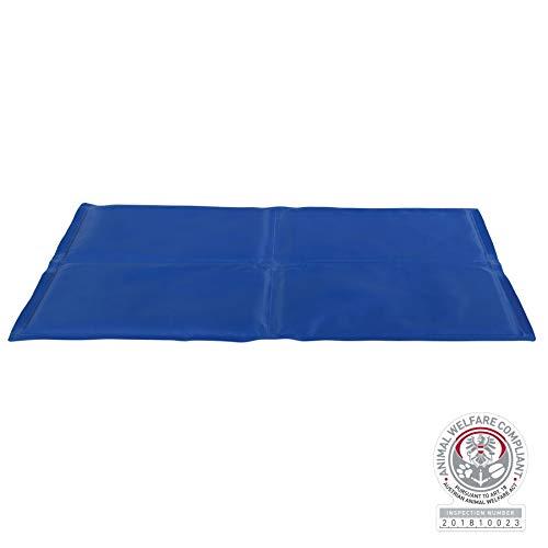 Trixie Alfombrilla Refrescante Perros - Descanso Perros Cama Cojín Frío Regulador De Temperatura, 90 x 50 cm, Azul