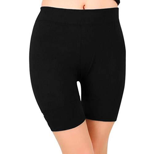 KPPONG Damen Kurze Leggings Hose Einfarbig Miederhose Kurze Radlerhose Unterhosen Stretchy Yoga Pants Boyshorts