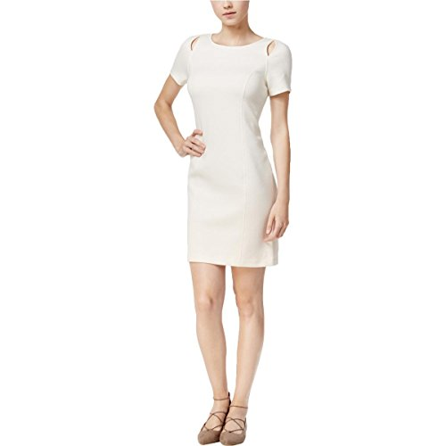 Kensie Womens Party Sheath Cocktail Dress White S