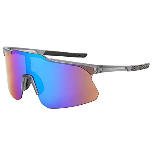 Chahu Gafas de sol rectangulares para hombre, lente de PC, cierre suave, ultraligeras para conducción al aire libre