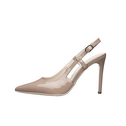 NeroGiardini E011040DE Zapatos De Salón Mujer De Charol - Nude 35 EU