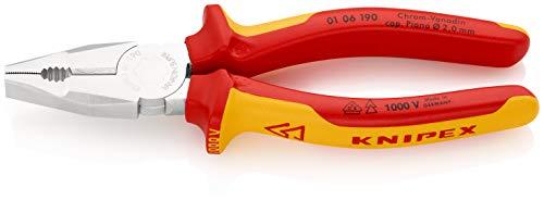 KNIPEX Kombizange Chrom-Vanadin 1000V-isoliert (190 mm) 01 06 190