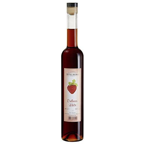 Erdbeer-Likör Höllberg 30% vol, (1 x 0.5 Liter) fruchtiger Likör ohne Aromastoffe