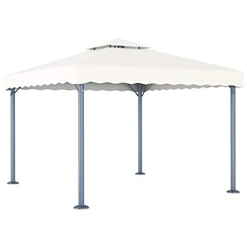 Tidyard Carpa de jardín Carpas para Fiestas Cenador Color Crema Aluminio 300x300 cm