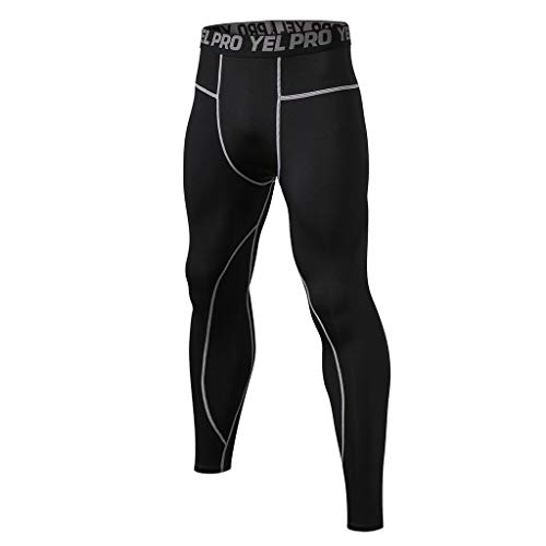 Big Save! ZOMUSAR Men Training Bodybuilding Workout Fitness Long Pants Tight-Drying Sports Pants for...