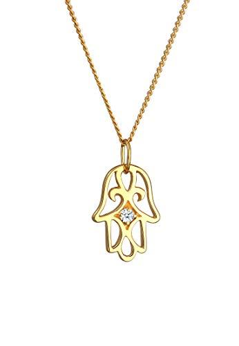 Elli pREMIUM chaîne pour femme avec pendentif main de fatma