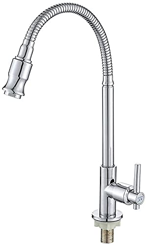 Grifo de cocina de níquel cepillado con resorte extraíble Grifos de cocina Primavera de cobre Grifo mezclador de cocina Lavabo Grifo de lavabo giratorio de 360 grados para baño