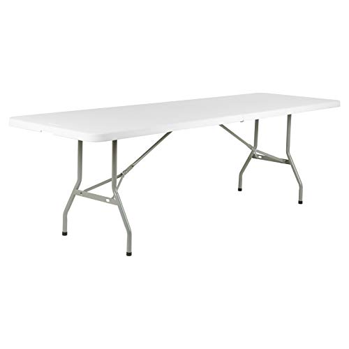 Hartleys Large 8ft White Folding Table - Suitable for Indoor/Outdoor Use