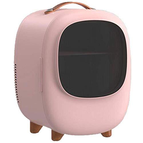 FZYE Mini refrigerador portátil, enfriamiento silencioso, Compacto, Calentador, Cuidado de la Piel, minibar, Maquillaje, refrigeradores, Bebidas, refrigerador, 12 V, 220 V, para automóv