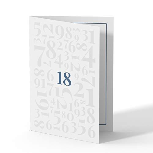(10 x) Einladungskarten zum 18. Geburtstag Einladungen Karten Klappkarte Edel runder