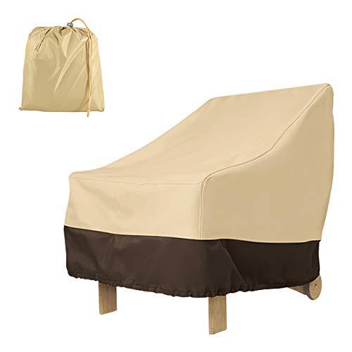 Maalr Terraza - Funda protectora para sillas, antipolvo, antiUV, impermeable, para muebles, sillón, sofá, mesa, protector para al aire libre, jardín, terraza, sillas de comedor (42D beige)