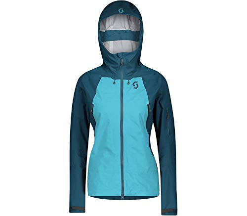 Scott W Explorair 3L Jacket Colorblock-Blau, Damen Dermizax™ Windbreaker, Größe M - Farbe Majolica Blue - Bright Blue