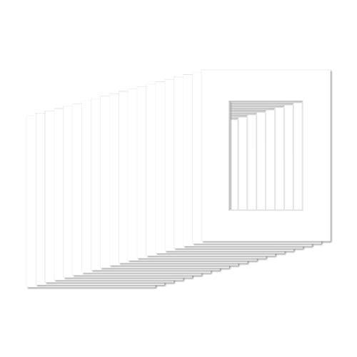 AlphaUVplus - 20 Stück - Passepartouts in Museumsqualität - Reinweiß - Außengröße: 20x25cm / für Foto: 15x20cm