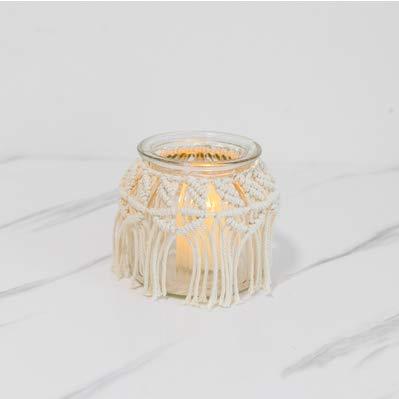 CBVG Makramee Quasten Tapisserie Hängende Böhmen Hintergrund Romantische Kerzenlicht Abendessen Requisiten Kerzenhalter Dekoration, S.