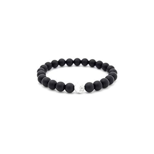 Awertaweyt Edelstein Perlen Armband Natural Lava Tiger Eye Stones Beads Bracelet Men Jewelry Handmade Black Charm Beaded Bracelets Bangles for Men Women Pulseras 5