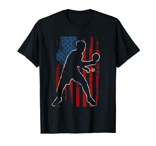 Jugador de tenis de mesa Bandera de Estados Unidos de América de Ping Pong Regalo Camiseta