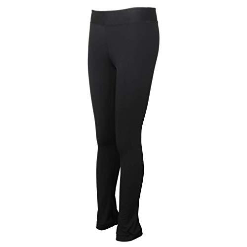 Tenlacum Eiskunstlaufhose für Erwachsene und Kinder, Eiskunstlauf-Hose mit Fleece (schwarz, 3XL)