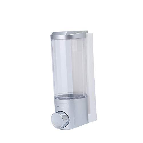 DJYTHLT 300 ml Wandseifenspender, Desinfektionsmittel, für Badezimmer, Shampoo, Dusche, Gel, Behälter, weiß, white