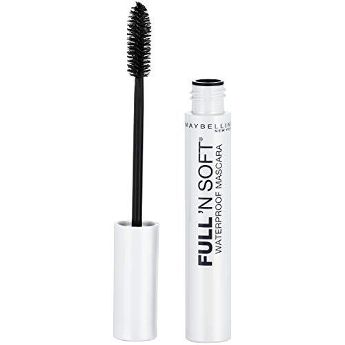 Maybelline Full 'N Soft Waterproof Mascara, Very Black, 1 Tube