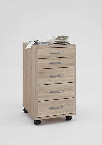 AVANTI TRENDSTORE - Fornovo - Cassettiera a rotelle in legno laminato, disponibile in 2 colorazioni diverse. Dimensioni LAP 33x63,5x38 cm (Marrone)
