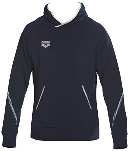 ARENA Team Line Fleece Langarm Hoodie für Damen und Herren, Unisex-Erwachsene, Hemd, Team Line Fleece Long Sleeve Hoodie for Men and Women, Navy, Small