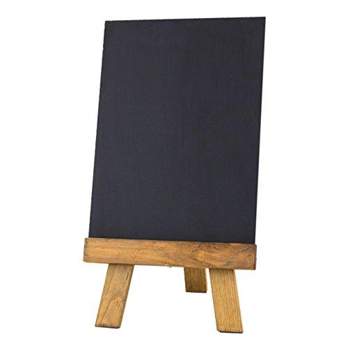 Krijtborden UK tafelblad ezel en Blackboard, hout, donker eiken, 29,7 x 21 x 0,6 cm