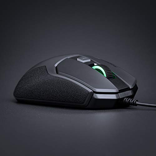 Roccat Kain 100 AIMO RGB gaming mouse (8,500 dpi pro-optic R8, 89G lightweight, titanium click technology) black