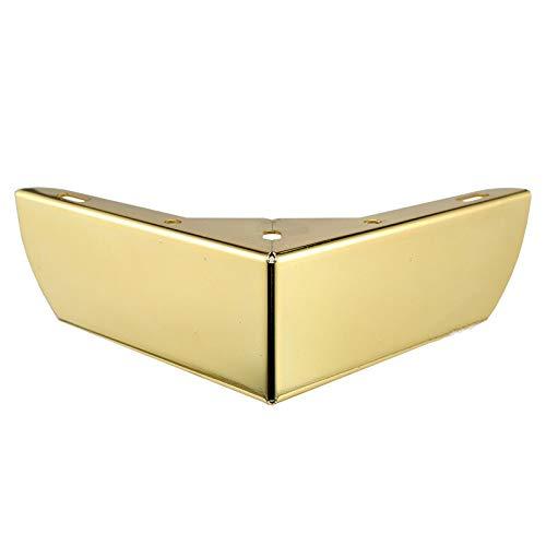 Haus Dekoration 4 STÜCKE Schwere Lastlager Möbel Beine Metall Schrank Füße verchromt Dreieck Sofa TV Kabinettbeine DIY Supportrahmen (Color : Gold)