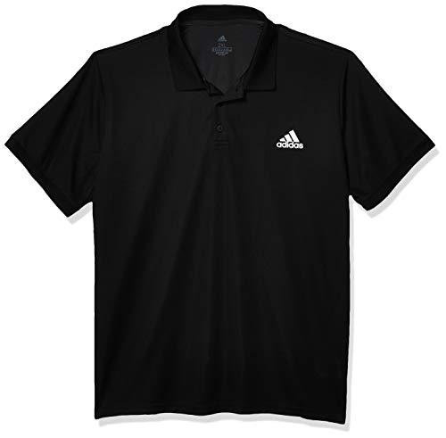 adidas Herren Club Solid Poloshirt, Herren, Hemd, Club Solid Polo, Schwarz/Mattsilber, X-Small