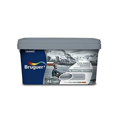 Bruguer 23676 Pintura paredes y techos, Escandinavia Gris Matiz, 4 litros
