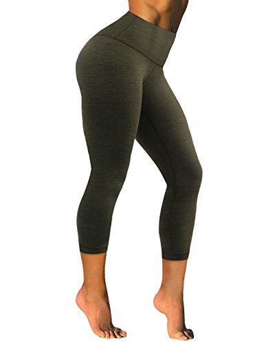 BUBBLELIME Yoga Capris Running Capris High Waist Power Flex Leggings Capris Non See-through Fabric