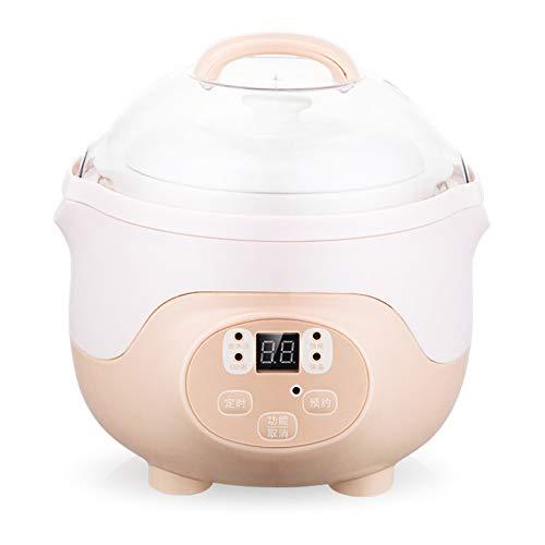 Olla Eléctrica Para Estofado,Olla Multifunción Para Cocinar En Casa,Forro De Cerámica De 0.8L Olla De Cocción Lenta Con Sincronización Inteligente,90W