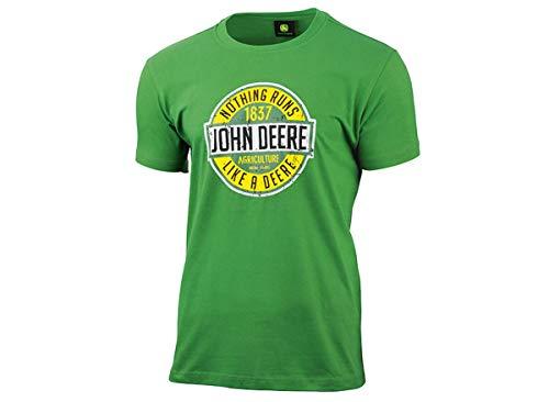 John Deere T-Shirt Nothing Runs Like A Deere Grün (M)