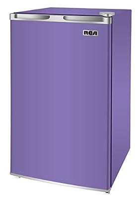 RCA RFR320-PURPLE 3.2 Cu Ft Compact Fridge, Mini Refrigerator, Purple