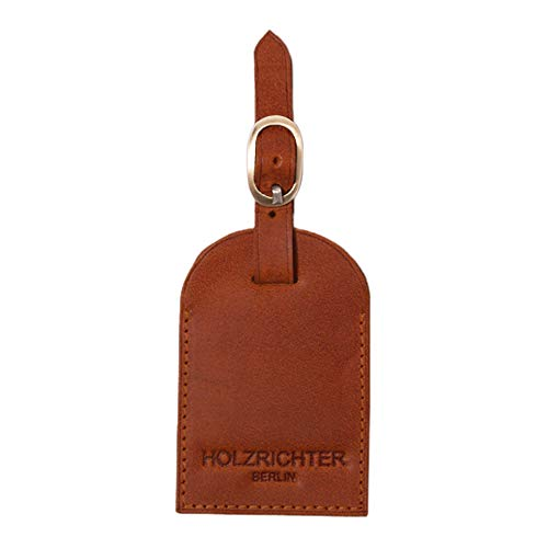 HOLZRICHTER Berlin Luggage Tag - Premium Leather Address Tag