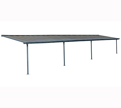 Hochwertige Aluminium Terrassenüberdachung, Terrassendach 300x1156 cm (TxB) - grau