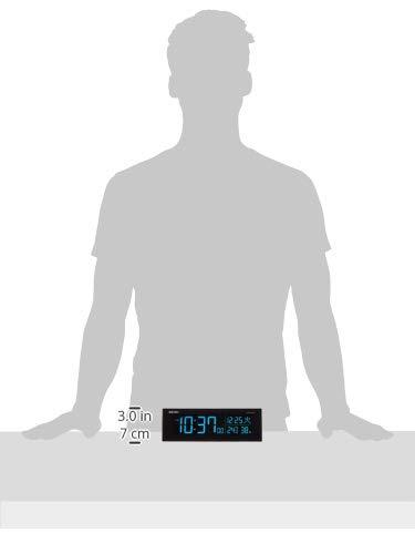セイコークロック目覚まし時計電波デジタル交流式カラー液晶シリーズC3黒DL305KSEIKO